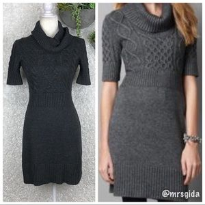 LOFT Dresses - LOFT Cable Knit Cowl Neck Sweater Dress | XS